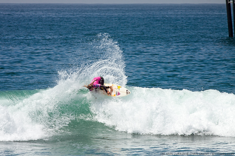The ever-smooth, always-radical, Lee Ann Curren at the 2013 Supergirl Pro in Oceanside, California. Surf photo by Chris Grant, Jettygirl Online Surf Magazine.
