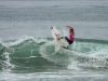French surfer, Justine Dupont, hits the lip at the 2013 Supergirl Pro in Oceanside, California. Surf photo by Chris Grant, Jettygirl Online Surf Magazine.