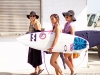 Billabong's Megan Villa, Alessa Quizon, and Felicity Palmateer at the 2013 Supergirl Pro in Oceanside, California. Surf photo by Chris Grant, Jettygirl Online Surf Magazine.