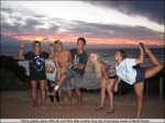 Claire, Jessica, Jayce, Matt, Bo and Wini after another long day of pumping waves at Bevo's house.