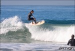 Kassia Meador's alaia floater, surf photo by Chris Grant