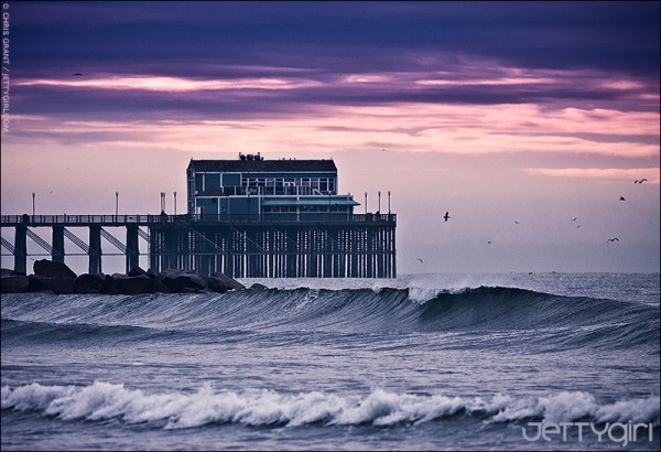 Stormy skies over Oceanside Pier. Photo © Chris Grant, JettyGirl.com