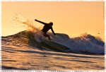 Late afternoon slice by Serena Brooke, surf photo by Chris Grant