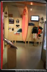 Big wave exhibit. Photo courtesy of the California Surf Museum.