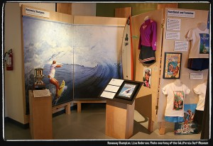 Lisa Anderson exhibit. Photo courtesy of the California Surf Museum.