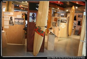 Rell Sunn exhibit. Photo courtesy of the California Surf Museum.