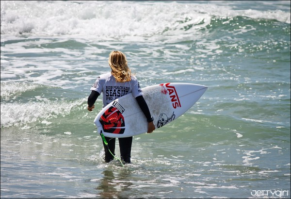 Leila Hurst, finalist at the Rob Machado Pro Junior at Seaside Reef. Photo by Chris Grant of JettyGirl.