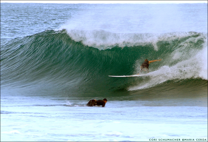 Cori Schumacher at Backdoor, Hawaii. Surf photo by Maria Cerda.