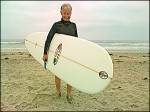 International Surfing Hall of Fame member, Linda Benson, using her Rail Grabber