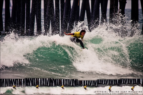 Alessa Quizon frontside snap at the 2011 Supergirl Pro Junior in Oceanside. Surf photo by Chris Grant, Jettygirl.com
