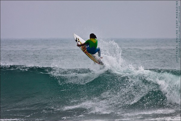 Frontside air by Silvana Lima. Surf photography by Chris Grant of Jettygirl Surf Magazine.