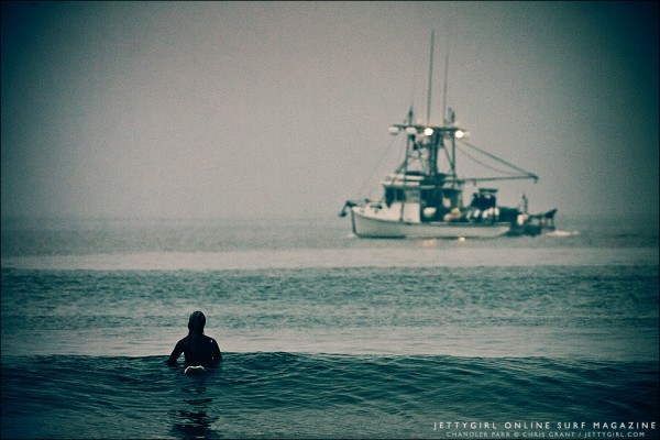 Early morning surf session, Chandler Parr. Surf photo by Chris Grant of Jettygirl Online Surf Magazine.