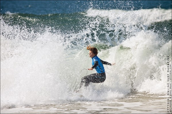 Bec Woods, Nike US Open of Surfing. Photo by Chris Grant, Jettygirl Surf Magazine.