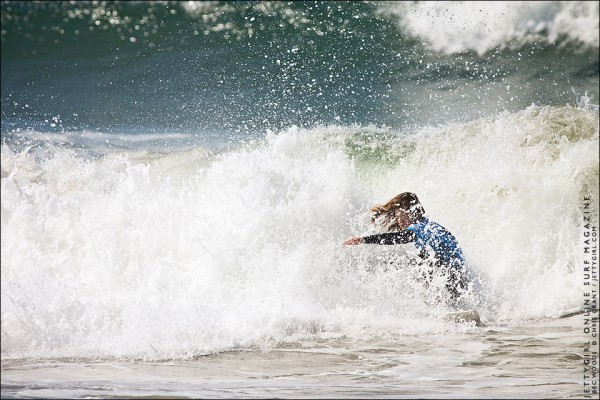 Rebecca Woods, Nike US Open of Surfing. Surf photo by Chris Grant, Jettygirl Online Surf Magazine.