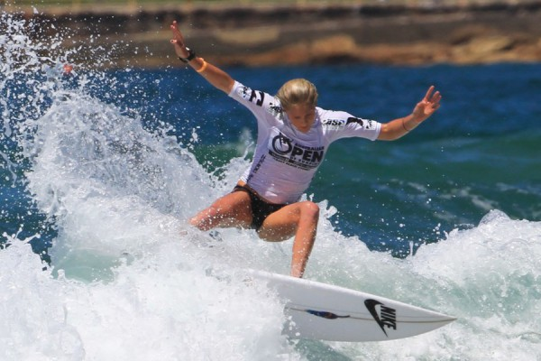 Laura Enever, Day 5 of the Australian Open of Surfing. Photo © ASP/Dunbar
