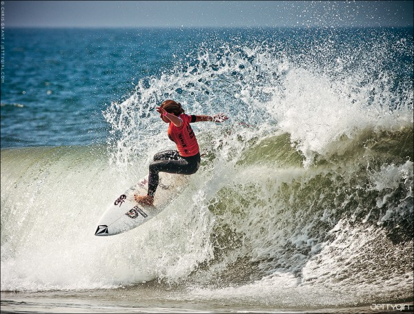 Coco Ho in the US Open of Surfing, Huntington Beach. Photo © Chris Grant, Jettygirl.com