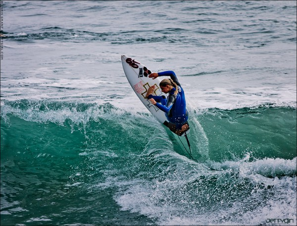 Lakey Peterson hitting the lip in Oceanside. Surf photo © Chris Grant, Jettygirl Online Surf Magazine