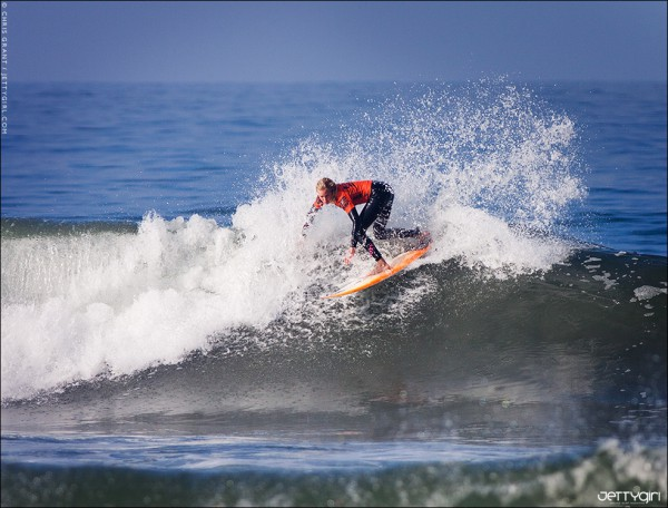 Laura Enever at the US Open of Surfing in Huntington Beach, CA. Surf photo © Chris Grant, Jettygirl Online Surf Magazine