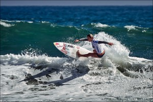 Carissa Moore at the US Open of Surfing. Photo © Chris Grant, Jettygirl Online Surf Magazine