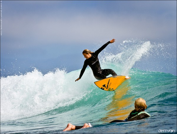 Paige Hareb lights up a Southern California left. Surf photo © Chris Grant, Jettygirl Online Surf Magazine