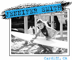 Jen Smith, Cardiff, California. Photo by Chris Grant, Jettygirl Online Surf Magazine