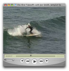 Jennifer Smith fin-first takeoff on video. Jettygirl surf video by Chris Grant.