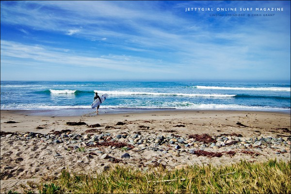 World Champion Lindsay Steinriede at home in California. Photo by Chris Grant, Jettygirl Online Surf Magazine.