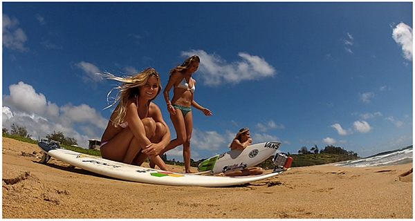 Alana Blanchard, Leila Hurst and Camille Brady star in episode one of Alana: Surfer Girl