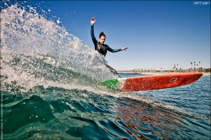 Lindsay Engle, Oceanside, California. Surfing photo by Chris Grant of Jettygirl Online Surf Magazine.