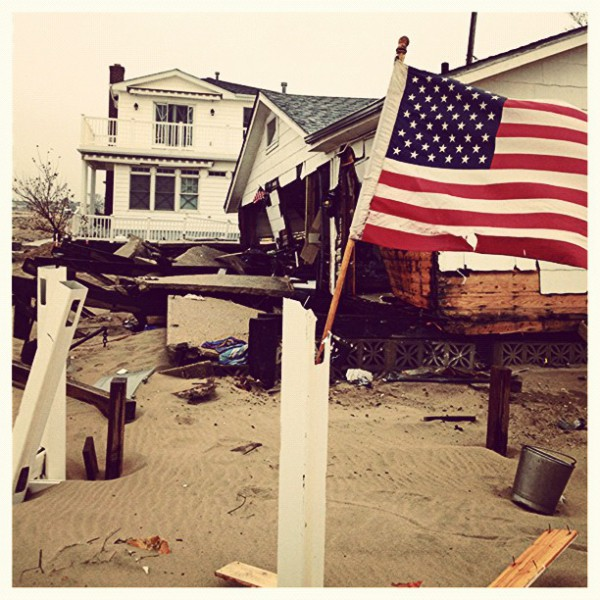 Devastation from Hurricane Sandy. Project Save Our Surf East Coast relief with Mary Osborne and Karon Pardue.