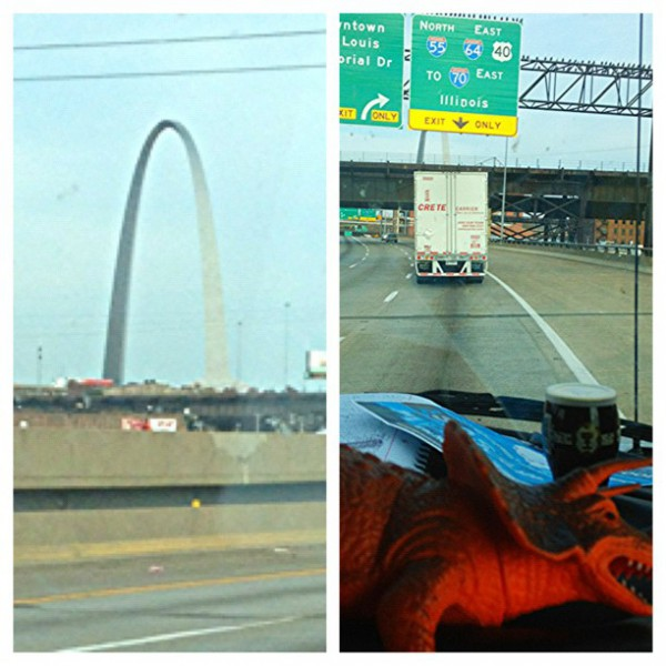 Gateway Arch, Illinois. Mary Osborne and Project Save Our Surf on the way to New York City.