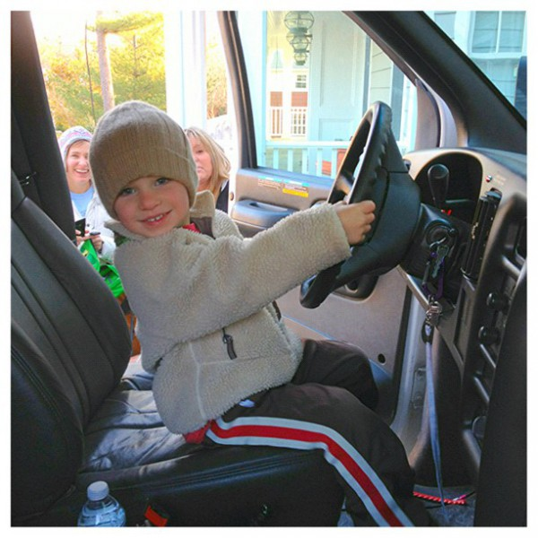 Little driver.  Project Save Our Surf Hurricane Sandy relief effort.