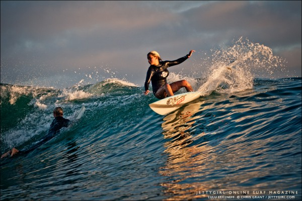 Lulu Erkeneff, Photo Friday. Surf photo by Chris Grant, Jettygirl Online Surf Magazine. Sequence image 1 of 9.