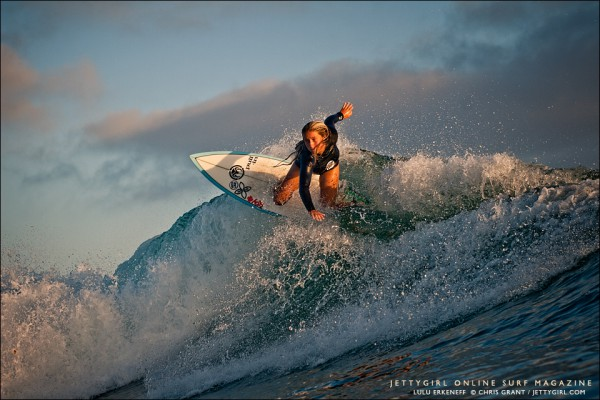 Lulu Erkeneff, Photo Friday. Surf photo by Chris Grant, Jettygirl Online Surf Magazine. Sequence image 3 of 9.