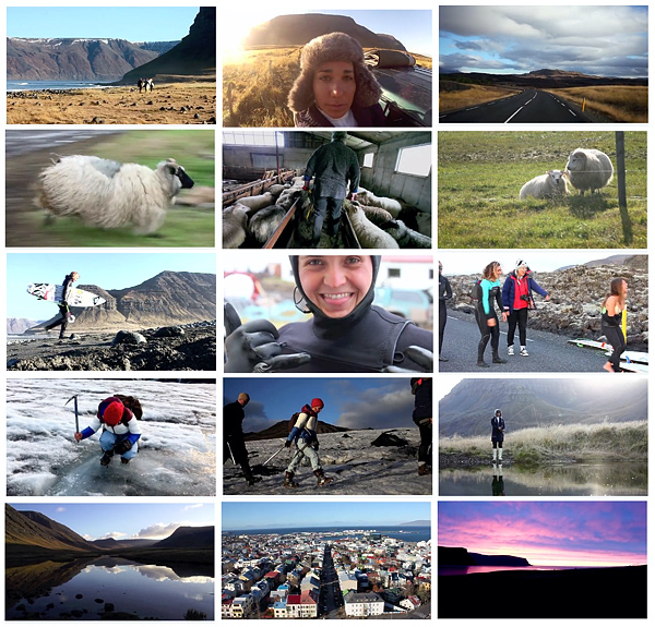 Iceland photos with Pauline Ado, Amandine Sanchez, Sofia Mulanovich, Jessi Miley-Dyer, and Lee-Ann Curren.