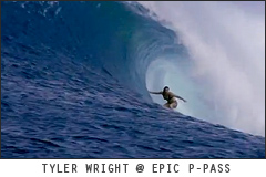 Tyler Wright at epic P-Pass. Surf video clip for My Mirage Bikini by Rip Curl.