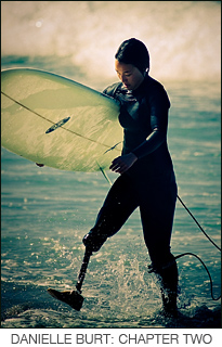Danielle Burt: Chapter Two - above the knee amputee surfs and talks about surfing