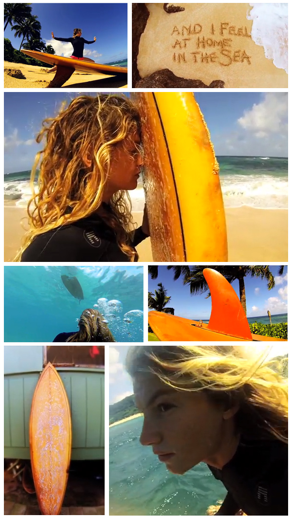 "Screenshots from Leah Dawson's short surf film, ""Peanut Butter"" now playing on Jettygirl Online Surf Magazine"