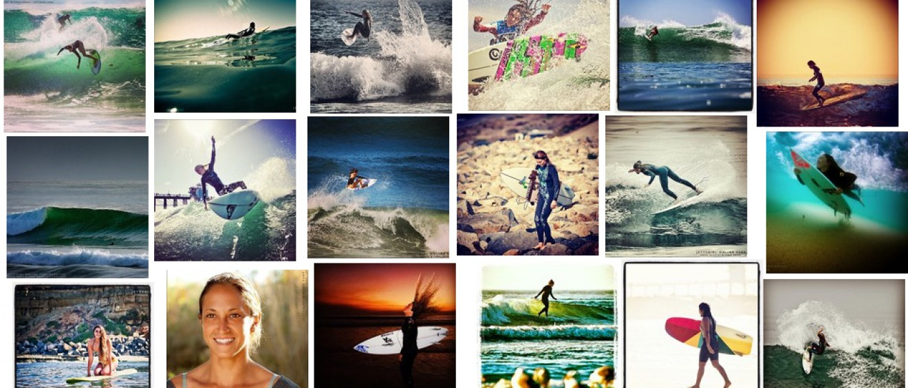 Jettygirl Online Surf Magazine on Instagram - collage of surfer girls