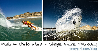 Malia Ward and Chris Ward surfing in San Clemente - Jettygirl Online Surf Magazine photos by Chris Grant