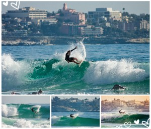 Harley Taich shredding at Blacks Beach. Surf photos by Chris Grant - Jettygirl Online Surf Magazine.
