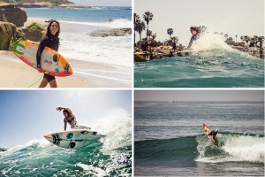 Harley Taich at home in La Jolla. Surf photos by Chris Grant, Jettygirl Online Surf Magazine.