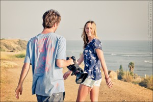 "Stephanie Vigiano filming with Taylor Larison for the new women's longboard film, ""Say No More"" - photo by Chris Grant, Jettygirl.com"