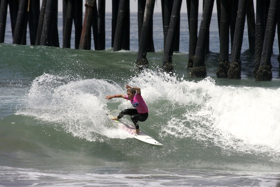 CoCoco Ho (HAW), 22, advanced to the Round of 12 at the Ford Supergirl Pro. Photo credit: ASP/SHADLEY