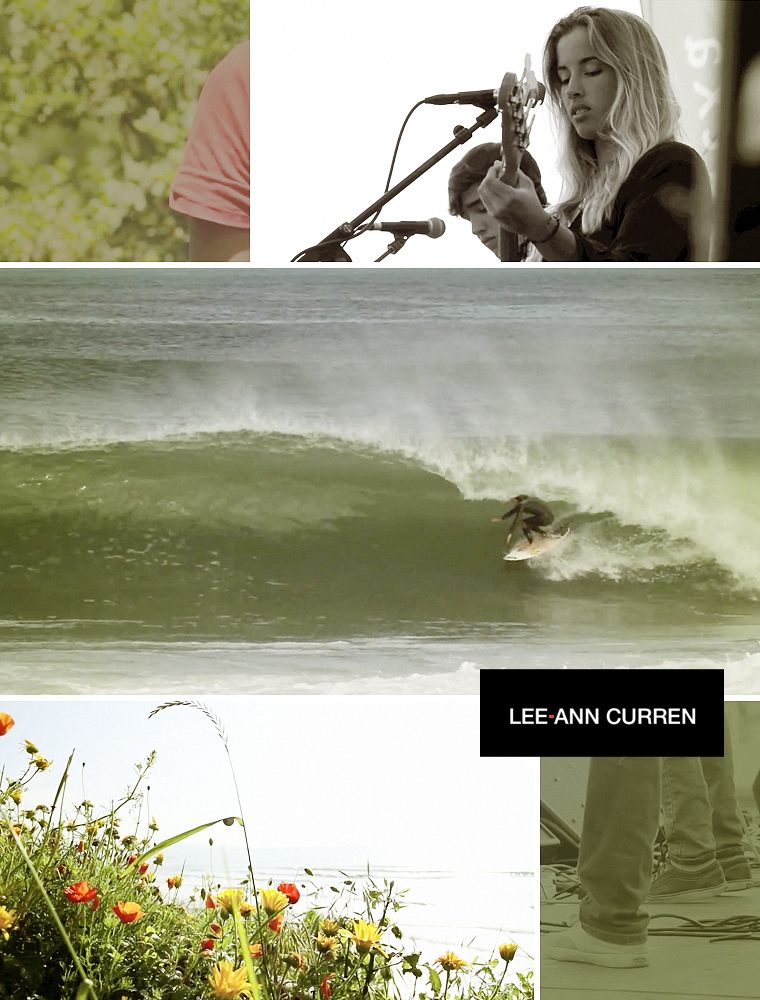Photo collage from Lee-Ann Curren and Betty the Shark Vans Surf Team edit.