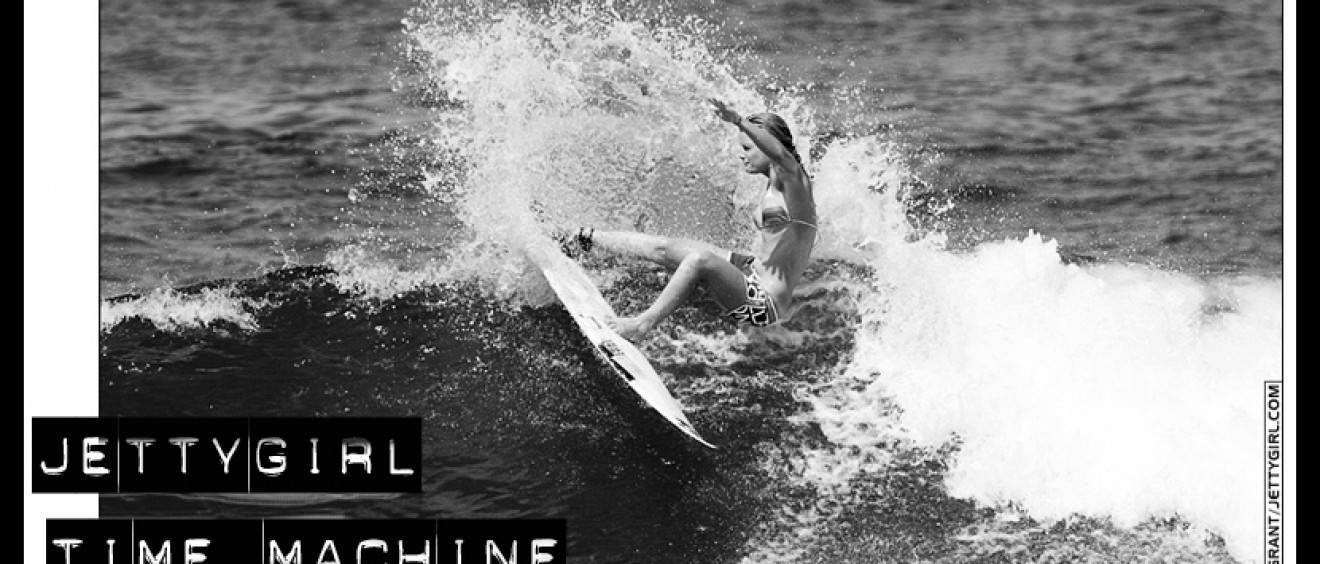 Bec Woods - Jettygirl Time Machine surf video clip featuring Bec, Claire Bevilacqua, Kyla Langen, Kim Mayer, Kassia Meador, Rochelle Ballard, Lyndsay Noyes, Violet Kimble, Sarah Beardmore, and Megan Abubo.