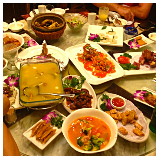Table setting with beautiful flavors and colors of China