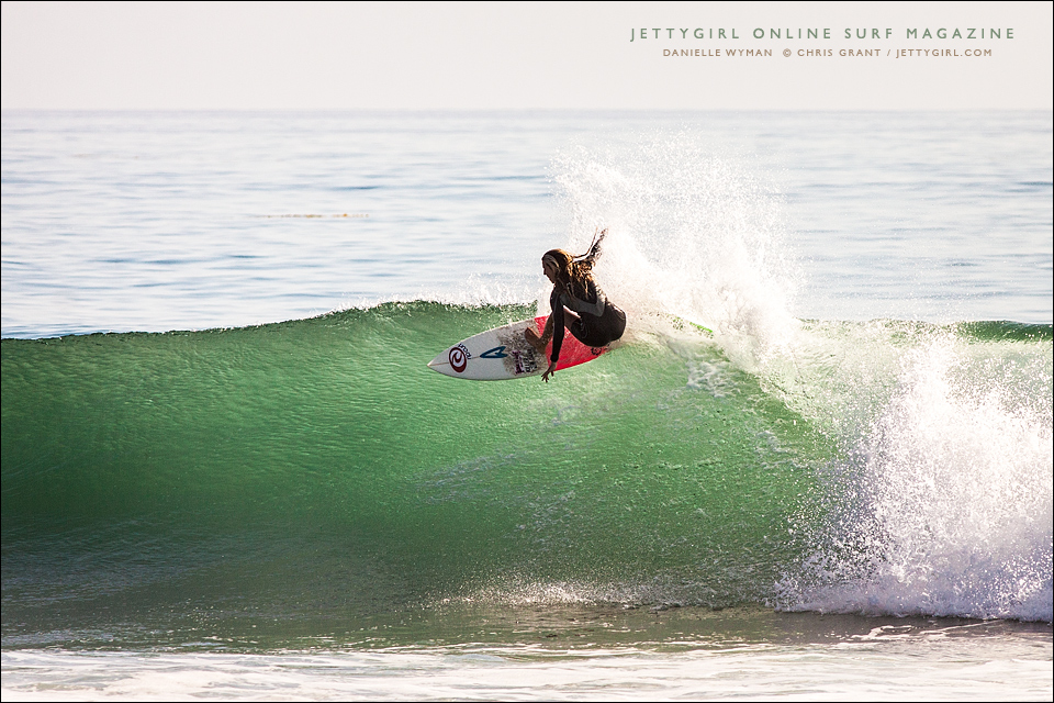 Danielle Wyman, Rip Curl team rider. Photo © Chris Grant, Jettygirl Online Surf Magazine