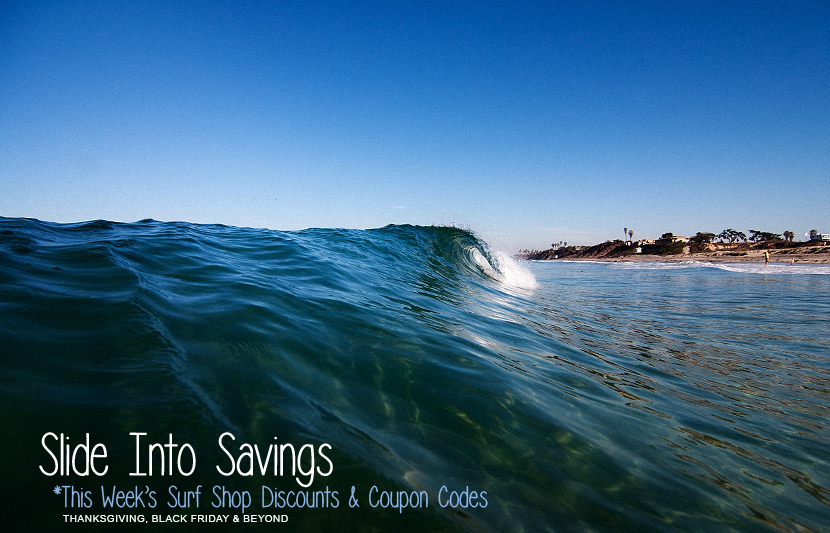 Thanksgiving and Black Friday Surf Shop codes and discounts
