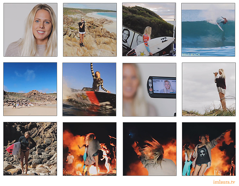 Laura Enever framegrabs from IM LAURA, The Ups, Downs and Merry Go Rounds of Pro Surfing